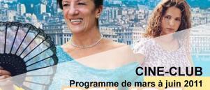 Bandeau Ciné Club mars-juin 2011