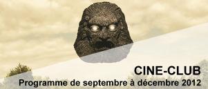 Bandeau Ciné Club septembre - decembre 2012