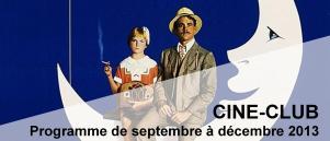 Bandeau Ciné Club septembre - decembre 2013
