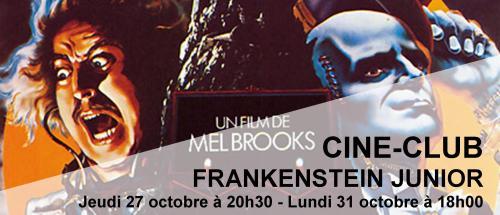 Bandeau Frankenstein Junior Ciné-Club 2016-2017