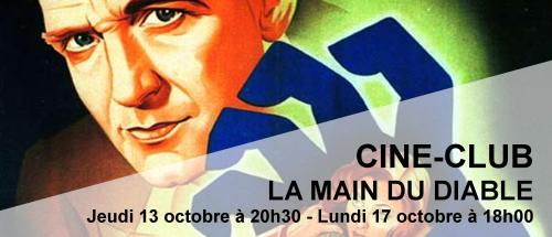 Bandeau La main du diable Ciné-Club 2016-2017