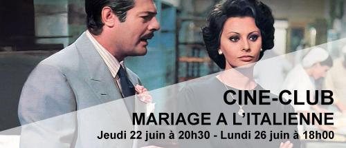 Bandeau Mariage à l'italienne Ciné-Club 2016-2017