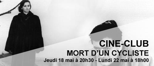 Bandeau Mort d'un cycliste Ciné-Club 2016-2017
