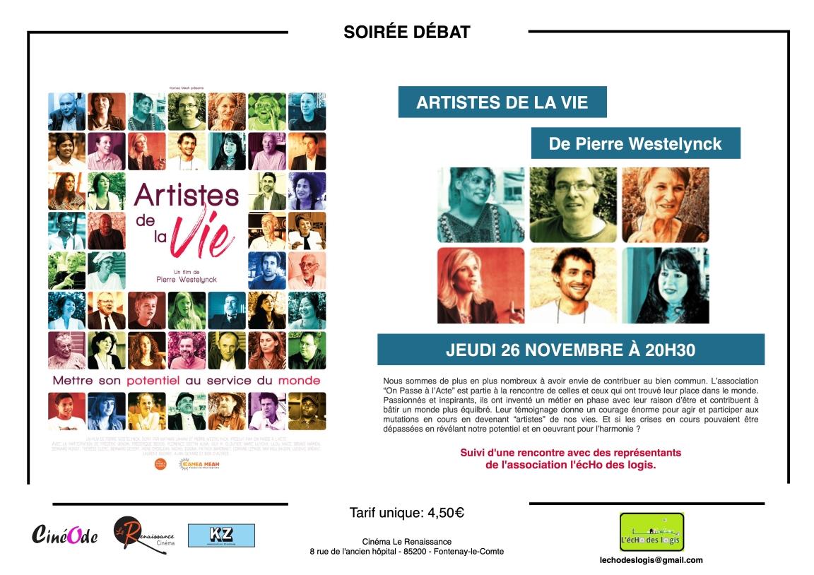AFFICHE COM SR ARTISTES DE LA VIE
